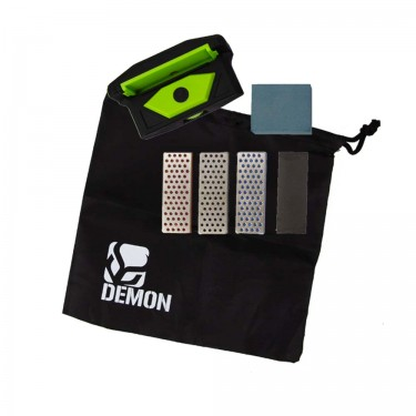 Demon United Elite X Ski and Snowboard Edge Care Kit- Includes Side Edge Multi-Tool, 3 Diamond Stones, Steel File and Gummy Stone