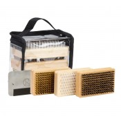 Ski/Snowboard Wax Brush Kit - Includes Metal Scraper and Edge File